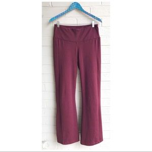 Betabrand Bootcut Heathered Red Travel Yoga Pants